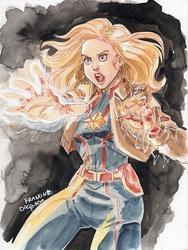 Captain Marvel - Drawing